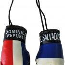 El Salvador and Dominican Republic Mini Boxing Gloves