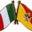 Italy and Sicily Friendship Lapel Pin