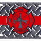 Firefighters License Plate