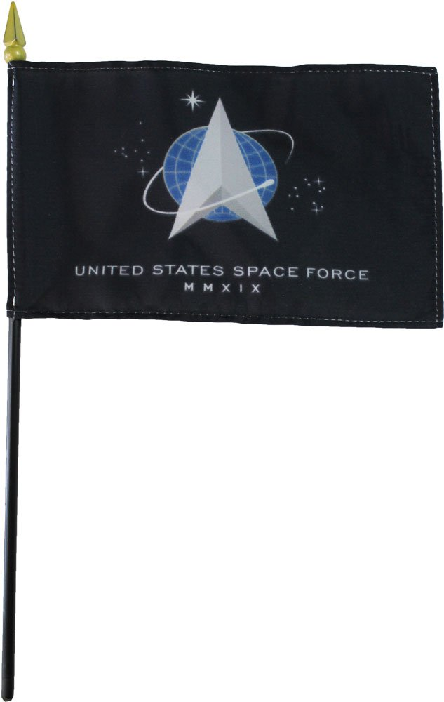 """Space Force - 4"""" x 6"""" Stick Flag"""