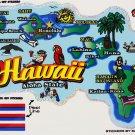 Hawaii State Map Die Cut Sticker