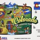 Colorado State Map Die Cut Sticker