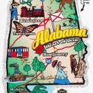 Alabama State Map Die Cut Sticker