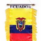 Ecuador Window Hanging Flag