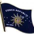Conch Republic Flag Lapel Pin