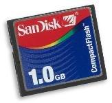 SanDisk 1 GB CompactFlash CF Flash Media Memory Card