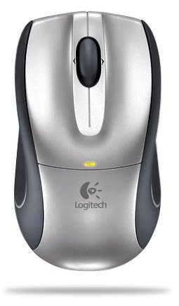 Logitech V320 Cordless Optical Wireless Notebook Mouse