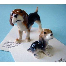Hagen Renaker - Beagle and Pup Family