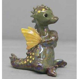 HAGEN RENAKER - Miniature Green Dragon With Wings - Fantasy