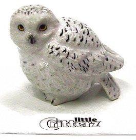 "Little Critterz - ""Ghost"" Snowy Owl - LC127"