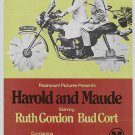 Harold and Maude Poster 20x40 inches RARE Harold & Maude Movie Poster