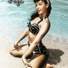 Bettie Page Poster 24x36 Bikini on the Beach Sexy RARE