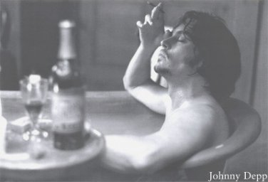 Johnny Depp Poster 24x36 Bathtub Nude Rare Out-of-Print