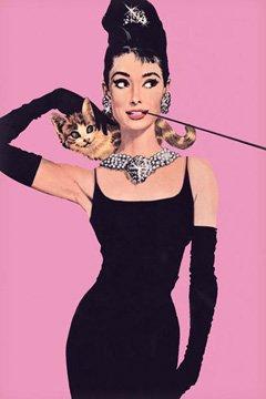 Breakfast at Tiffany's Poster 24x36 Audrey Hepburn PINK