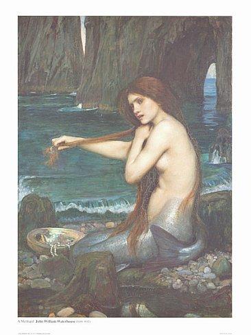 A Mermaid Art Print 24x32 John Waterhouse 1900