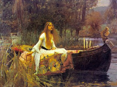 The Lady of Shalott Poster 24x36 John Waterhouse 1888