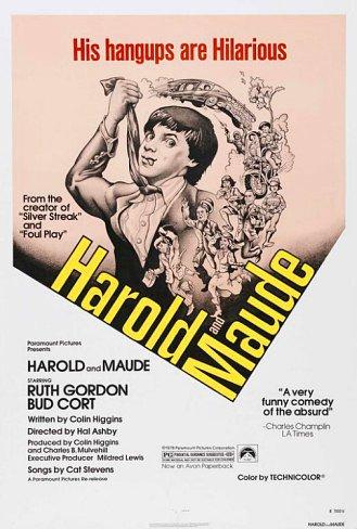 Howard & Maude Movie Poster 27x40 Bud Cort Ruth Gordon Cat Stevens RARE OOP