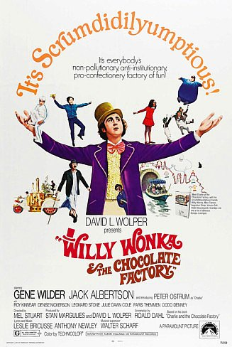Willy Wonka & the Chocolate Factory Poster 27x40 inches