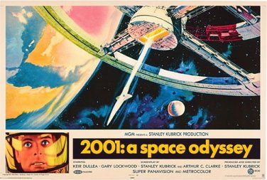 2001: A Space Odyssey Poster 24x36 Horizontal Stanley Kubrick Keir Dullea