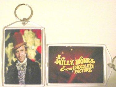 Willy Wonka & the Chocolate Factory keychain Key Chain Gene Wilder RARE