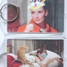 Breakfast at Tiffany's Key Chain Holly Golightly Cat Mask RARE