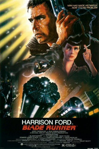 Blade Runner Movie Poster 24x36 Harrison Ford Sean Young Philip K. Dick Rare