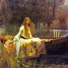 Lady of Shalott Poster Print 24x36 inches John Waterhouse Alfred Lord Tenneyson Shallott Shalot