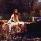 Lady of Shalott Poster Print 24x36 inches John Waterhouse Alfred Lord Tenneyson Shallot Shalot