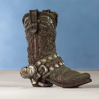 Antiqued Cowboy Boot