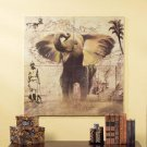 4 Pc. Patchwork Elephant Mural