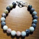 Sesame Serpentine and Wave Jasper Beaded Bracelet