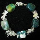 Clear Quartz & Moss Agate Bracelet