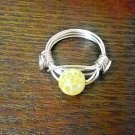 Yellow Fire Agate Ring