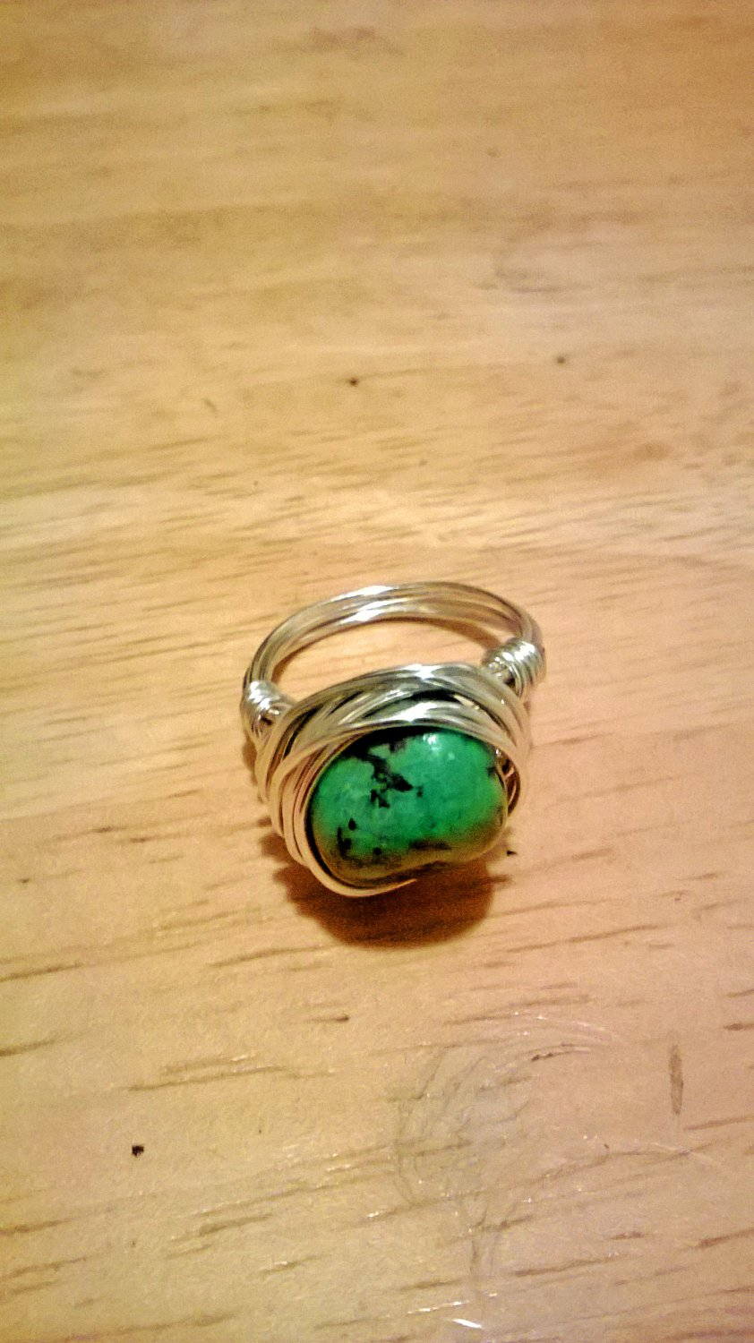 African Turquoise Ring