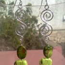 Crystal Elephant spiral  earrings