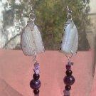 Geode & Amethyst Crystal Earrings