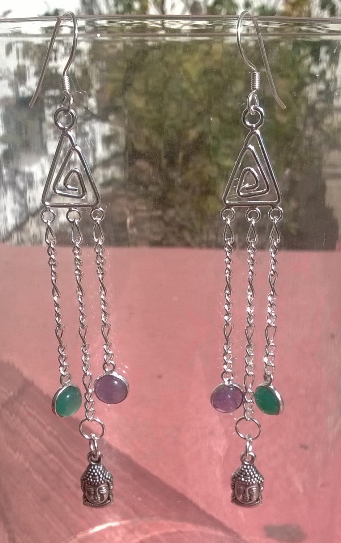 Crystal Buddha Earrings