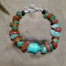 Carnelian & Agate Buddha Stone Bracelet