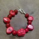 Quartzite and Bamboo coral Bracelet