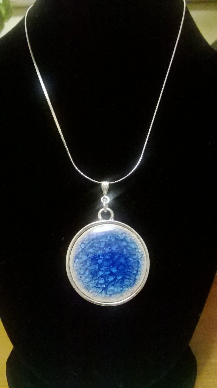 Strerling Silver Crystal Necklace & Pendant