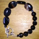 Men's Banded Black Onyx Bracelet