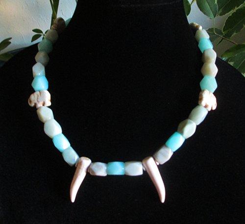Amazonite Elephant Necklace