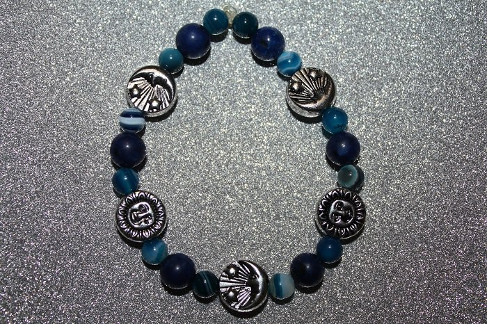 Banded Agate Sun and Moons