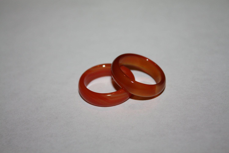 red Agate rings