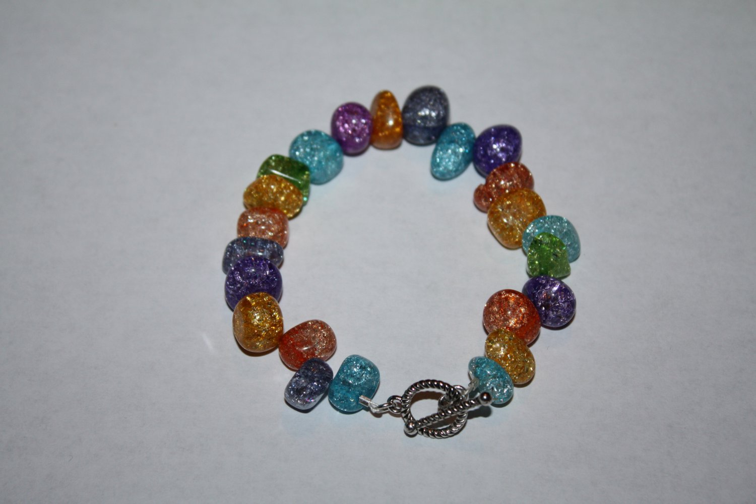 colorful Crackle Quartz (dyed) Bracelet