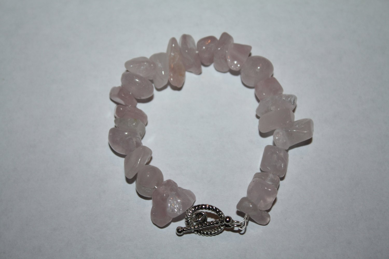 Rose Quartz medium chip Bracelet