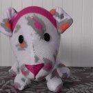 White/Pink Leopard Print Sock Dog