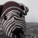 Brown Zebra striped Sock Dog