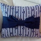 Hearts N Stripes Bow Pillow Case