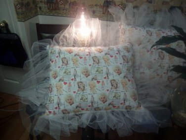 Marilyn Monroe Collage Tulle Pillow Case